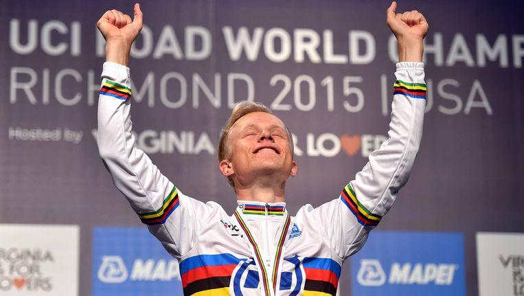 Mads Würtz Schmidt werd vorig jaar in Richmond wereldkampioen tijdrijden bij de beloften. Beeld TDW