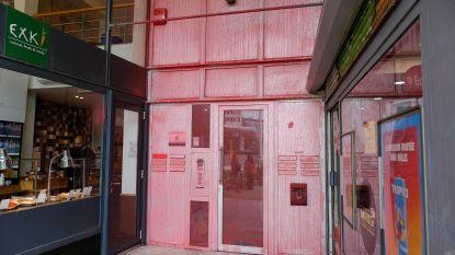 Hoofdkwartier Vlaams Belang in Brussel beklad met rode verf