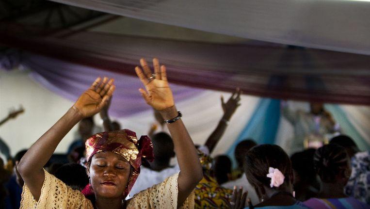 Een protestantse kerk in Sierra Leone. Beeld anp