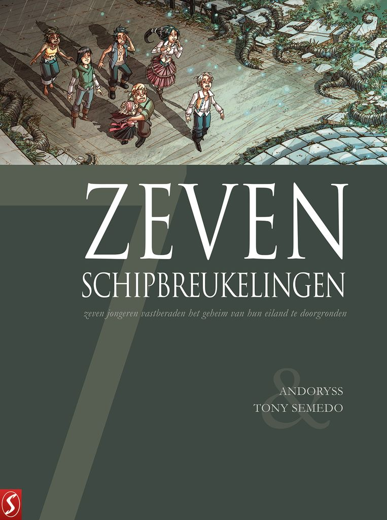 Cover van 'Zeven schipbreukelingen'. Beeld RV