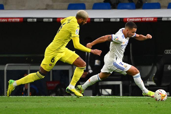 Hazard kreeg tegen Villarreal slechts een korte invalbeurt.
