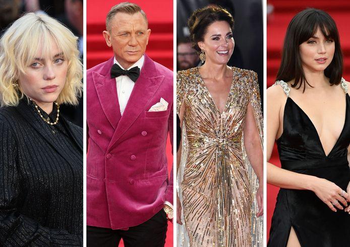 Billie Eilish, Daniel Craig, Kate Middelton et Ana de Armas.