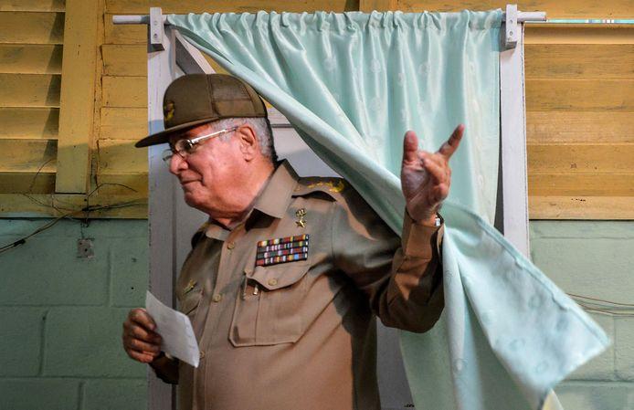 De Cubaanse minister van Defensie Alvaro Lopez Miera
