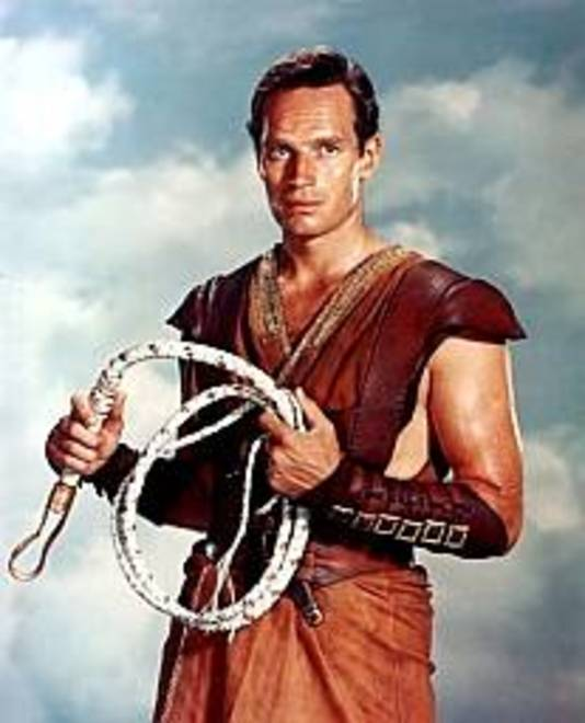 Charlton Heston in Ben-Hur.