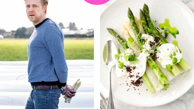 "Asperges uit vollegrond: chef Seppe Nobels bezingt de Vlaamse groente en onthult hoe hij hem bereidt. ""Zo'n sterproduct moet je in ere houden"""