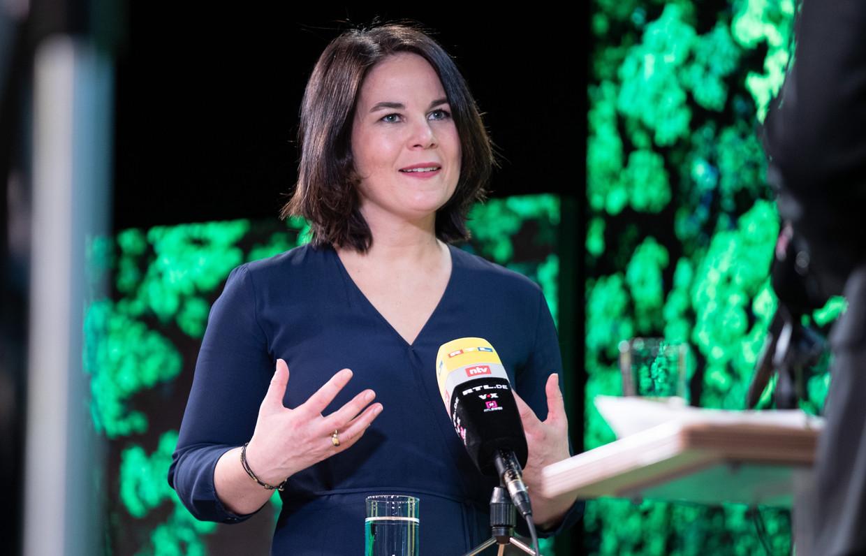 Annalena Baerbock, de verrassende opvolgster van Angela Merkel? Beeld EPA