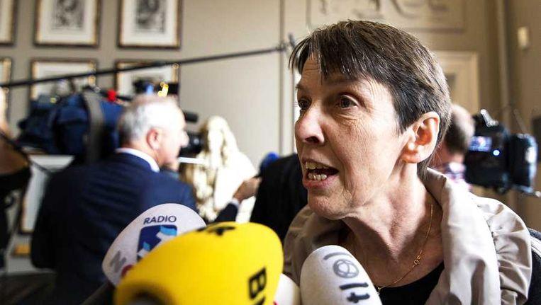Staatssecretaris Jetta Klijnsma (Sociale Zaken) na afloop van een overleg over de aanpassing van de bijstandswet. Beeld anp