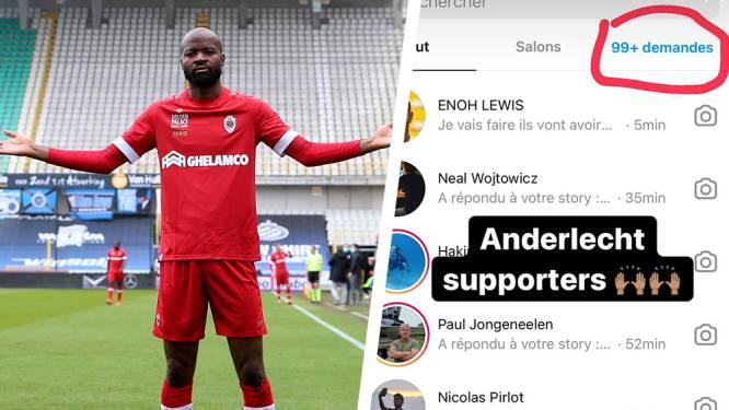 Daar is Lamkel Zé opnieuw: Kameroener pronkt op Instagram met berichtjes van smekende Anderlecht-fans