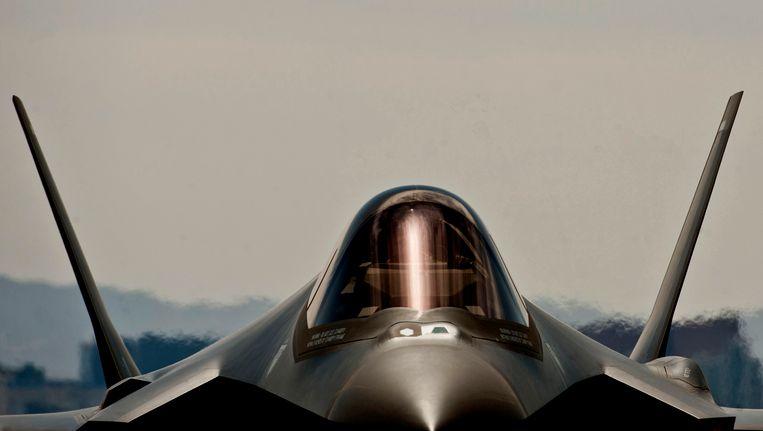 Een F-35A Lightning II van de Amerikaanse luchtmacht in Nevada Beeld reuters