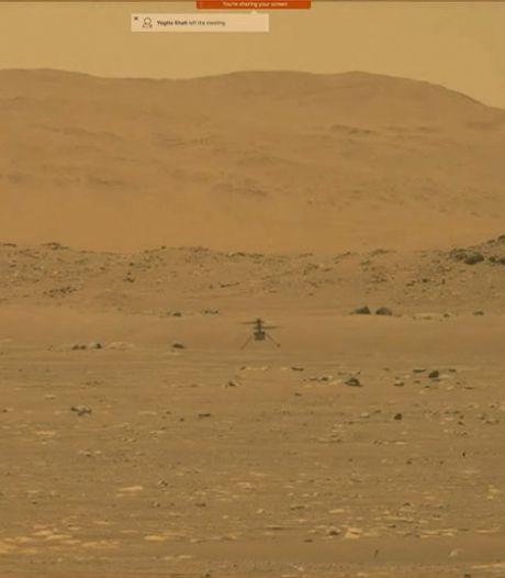 Onbemande Mars-helikopter maakt historische eerste vlucht