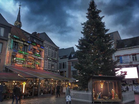 De mooi versierde binnenstad van Hasselt.