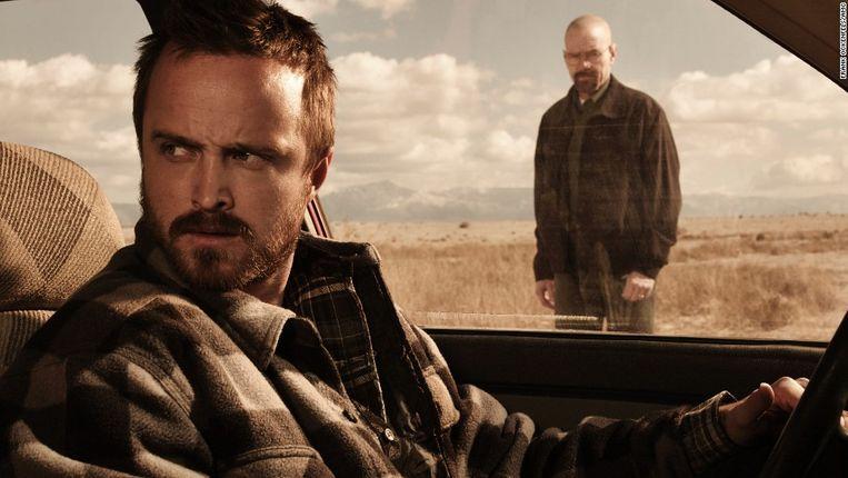 Pinkman wordt ook na de dood van zijn mentor Walter White (Bryan Cranston) nog door hem gekweld. Beeld Netflix