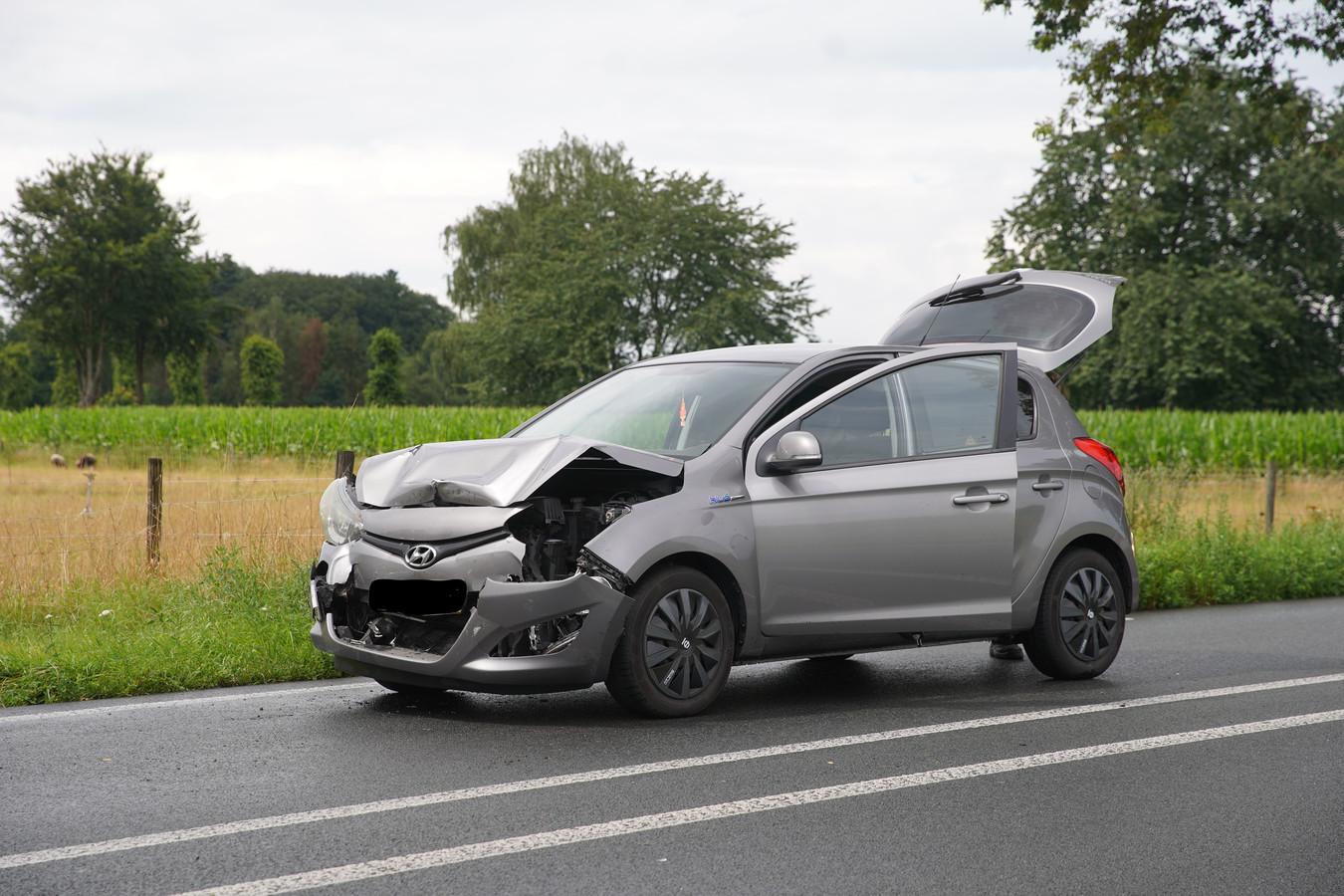 Een van de betrokken auto's.