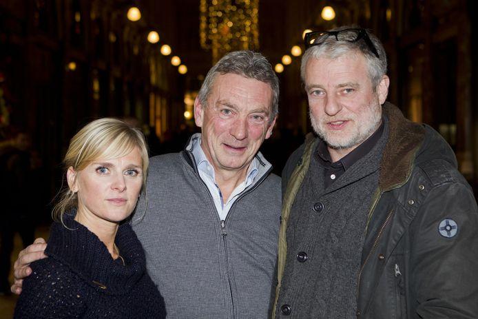 Actrice An Miller met scenarist Ward Hulselmans en acteur Filip Peeters.