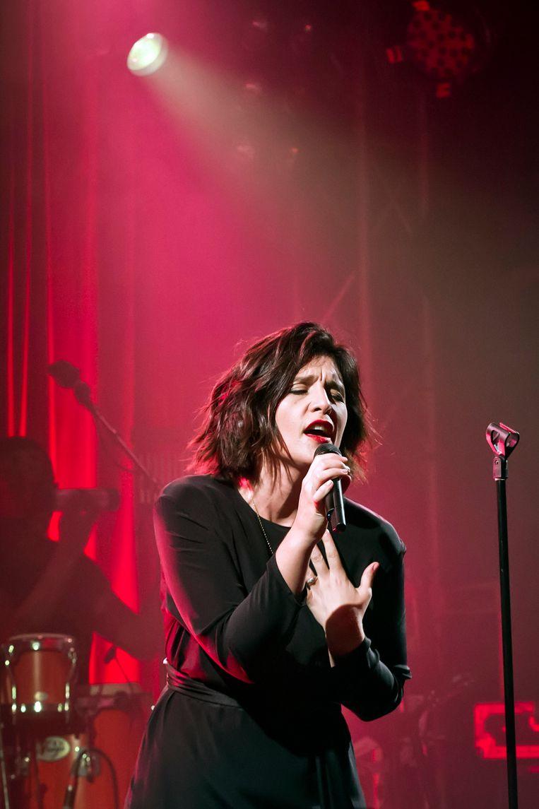 Jessie Ware trad vorige maand op in Berlijn.  Beeld Redferns