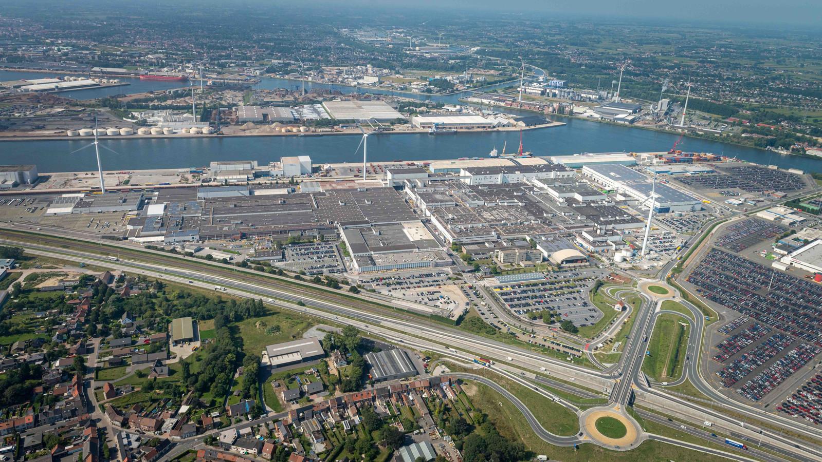 Volvo Car-fabriek in Gent.