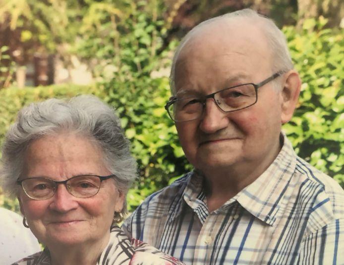 Julien Sirejacob en zijn vrouw Louise Raes op hun 65ste huwelijksverjaardag vorig jaar