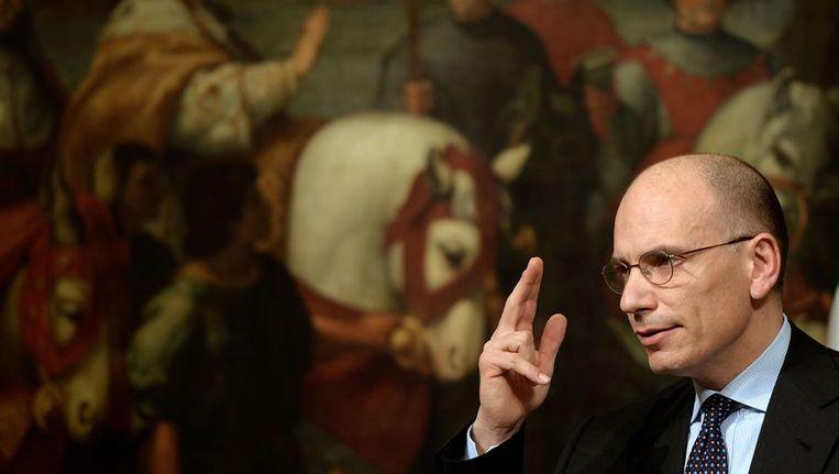 De Italiaanse premier Enrico Letta Beeld afp