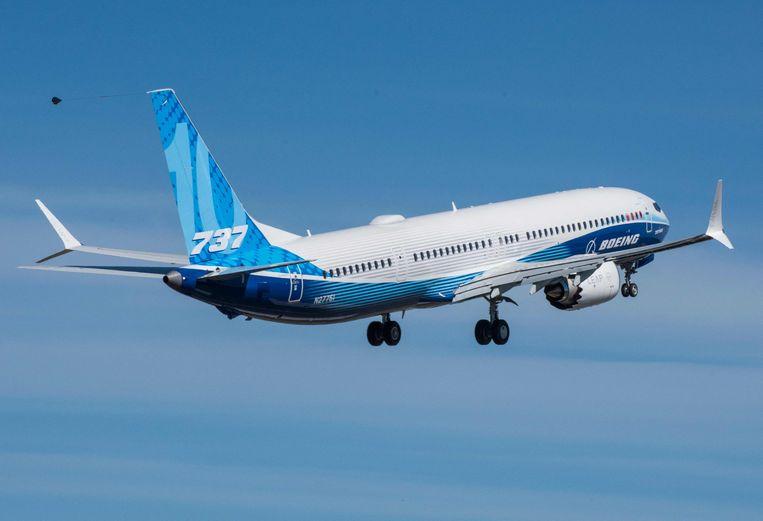De 737 MAX, hier van United, is binnenkort ook te zien bij Ryanair. Beeld AFP