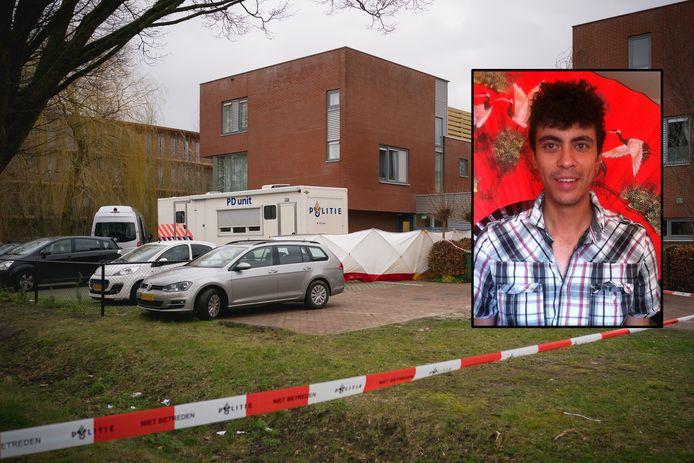 20 februari 2020: De politie doet onderzoek bij de instelling voor beschermd wonen in Wageningen. Inzet: Robert Dönnges.