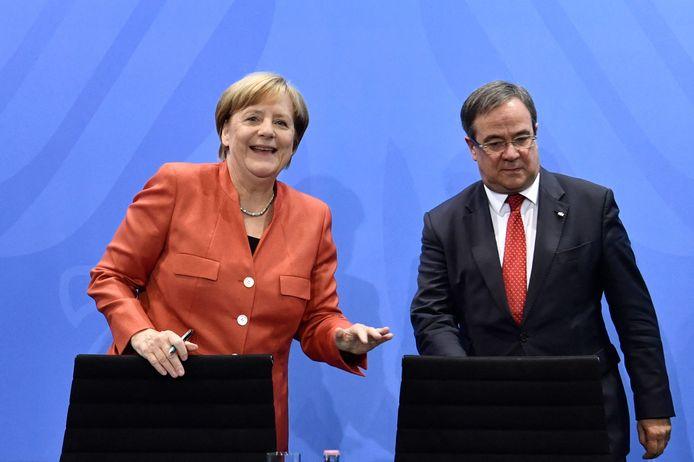 Armin Laschet avec Angela Merkel en 2017.