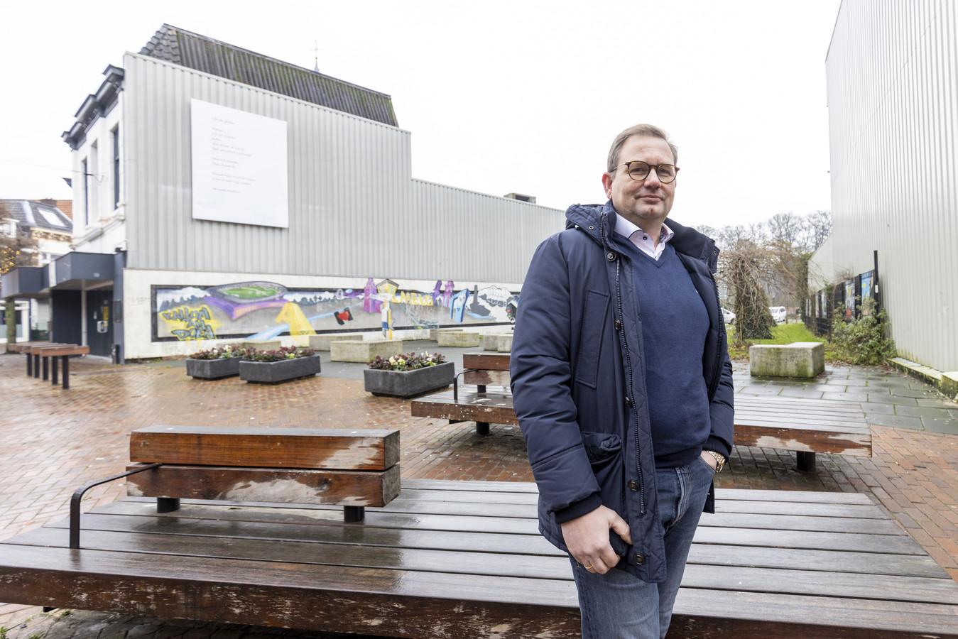 Aannemersbedrijf Tijdhof-Hobema van directeur Hans Gerritsen gaat in het derde kwartaal van dit jaar met de nieuwbouw in het 'Gat van Talamini' aan de slag.