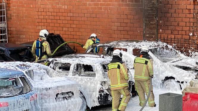 Zeven door politie in beslag genomen voertuigen uitgebrand op afgesloten terrein