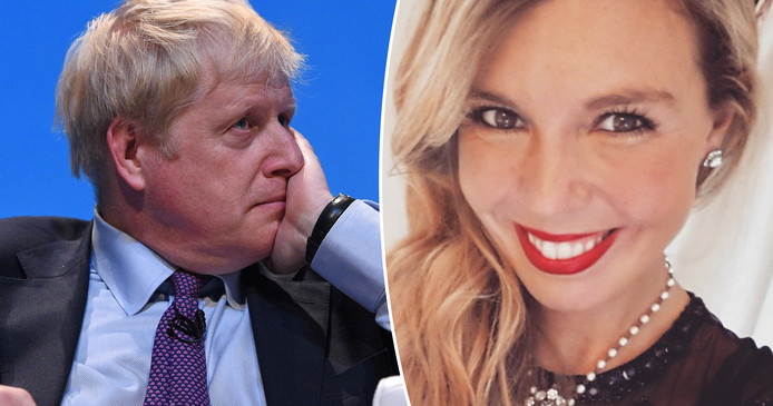 Boris Johnson et sa compagne  Carrie Symonds.