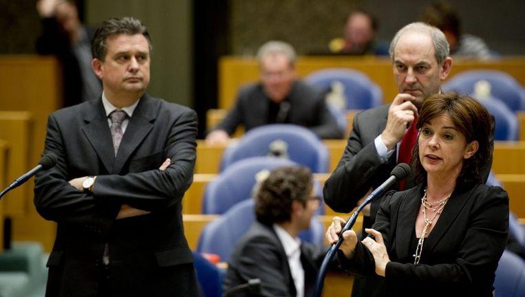 Emile Roemer (SP), Job Cohen (PvdA) en Jolande Sap (GroenLinks). Beeld anp