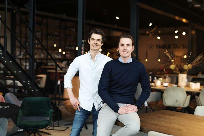 Teun (links) en Evert Antonissen van Table du Sud.
