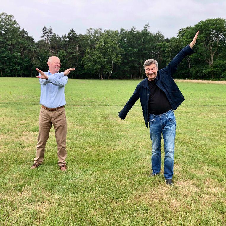 Ton Schaapveld (l) en Charles den Tex. Beeld Toine Heijmans