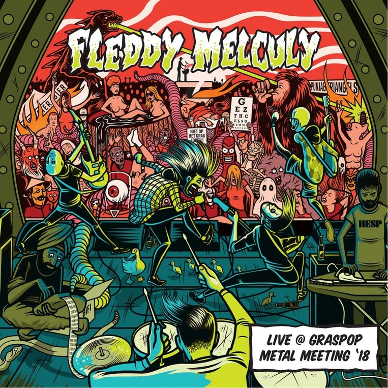 De hoes van 'Fleddy Melculy Live @ Graspop Metal Meeting '18.  Beeld