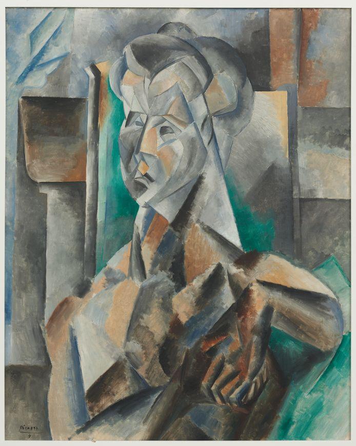 'Femme en vert', Pablo Picasso, 1909.