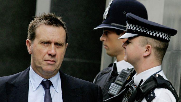 Clive Goodman, de ex-royalty-verslaggever, links. Beeld AFP