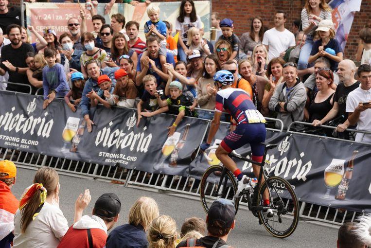 Leuven is volgestroomd voor het WK wielrennen. Beeld Eric de Mildt