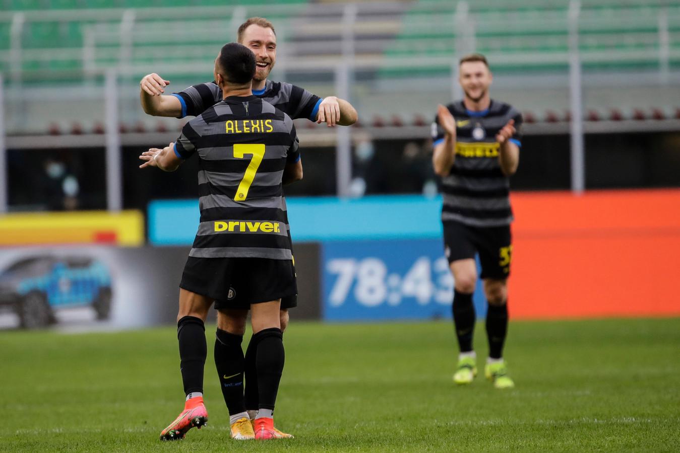 Ook Alexis pikte zijn doelpuntje mee.