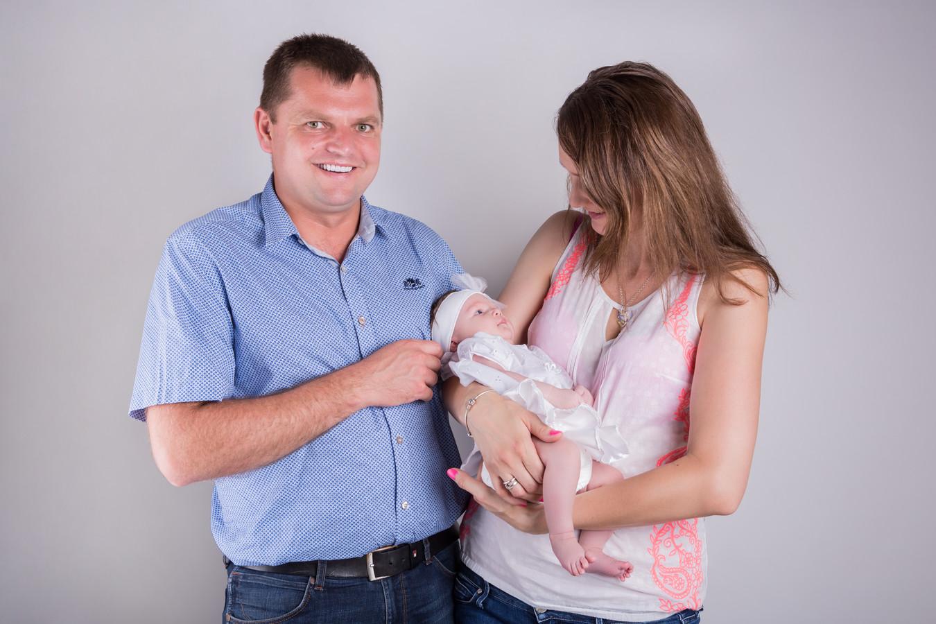 Jozef Chovanec, son épouse Henrieta et leur petite fille Lucia il y a quelques années.