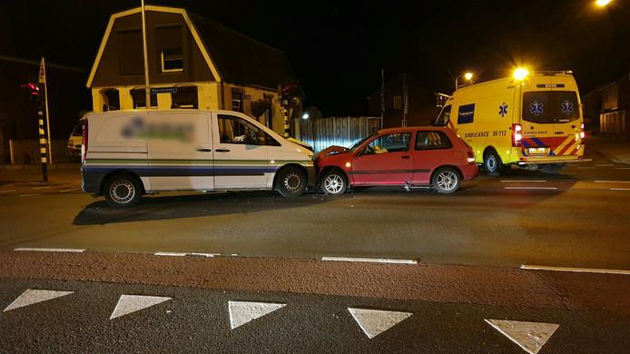 Het ongeluk op de Deurningerstraat.