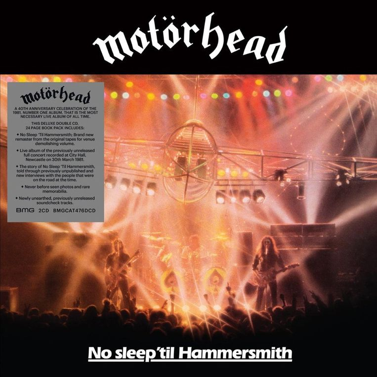 MOTÖRHEAD No Sleep 'Til Hammersmith (40th Anniversary Edition) Beeld rv