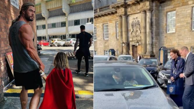 CELEBS 24/7. Chris Hemsworth wil zijn zoon onterven en de oprit van William & Kate wordt even een cinema