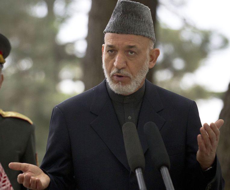 President Hamid Karzai. Beeld AP