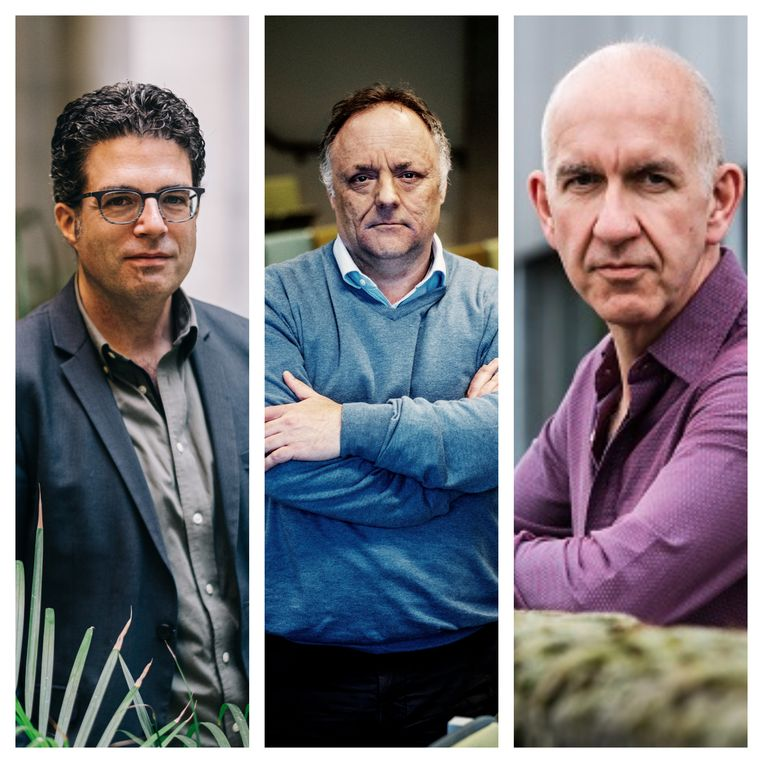 Steven Van Gucht, Marc Van Ranst en Geert Molenberghs Beeld