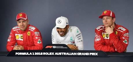 Räikkönen kan niet lachen om grapje van Hamilton