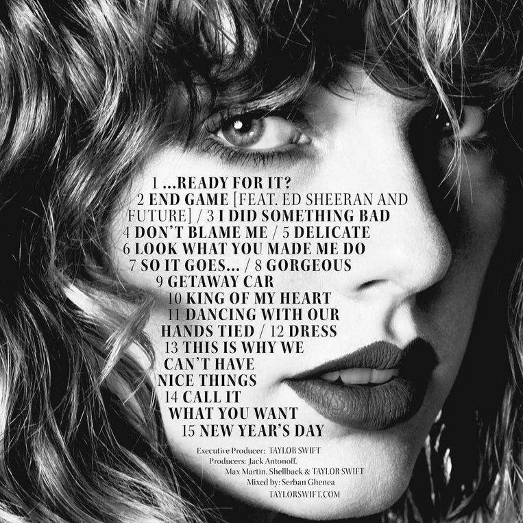 Dit is de volledige tracklist van 'Reputation'. Het album bevat 15 songs.