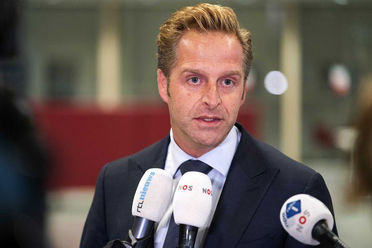 Volksgezondheidsminister Hugo de Jonge 'heeft ook goed nieuws'.  Beeld ANP