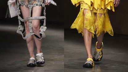 Daar gaan we weer: opnieuw Crocs te zien op de catwalk