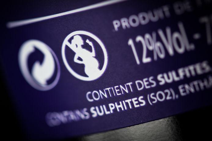Het waarschuwingsicoontje op wijnflessen in Frankrijk.