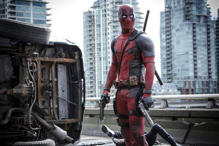 Het biseksuele kantje van Deadpool wordt amper uitgespeeld in de films, maar dat zou weleens kunnen veranderen. 'Joepie, ik krijg eindelijk een vriendje', zei acteur Ryan Reynolds daarover.  Beeld ap