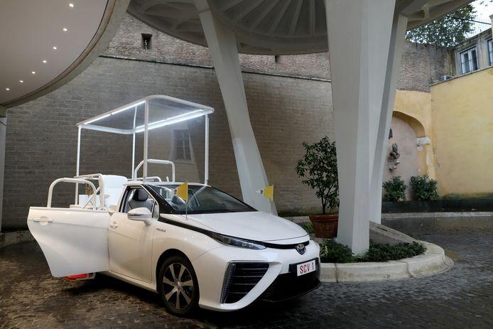 De pausmobiel van Toyota.
