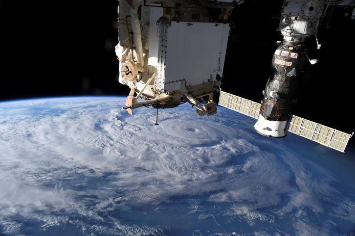 Orkaan Genevieve gezien vanuit het Internationaal Ruimtevaartstation ISS vorige maand.